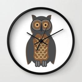 Owl Doodle Wall Clock
