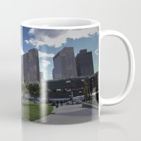 boston Mugs featuring Boston by Jill Deering Creative