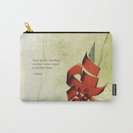 Arabic Calligraphy - Rumi - Another Form Carry-All Pouch