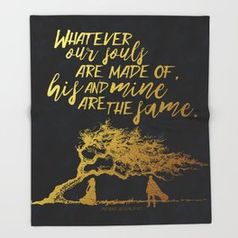 Wuthering Heights - Souls - Gold Foil Throw Blanket