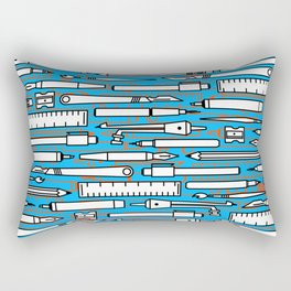 illustrator blue Rectangular Pillow