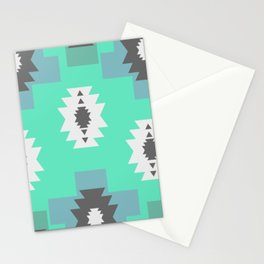 Minimal tribal decor in blue Stationery Cards
