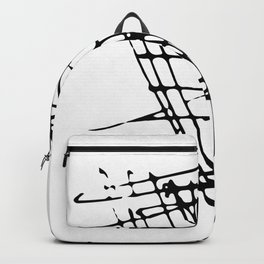 Sketch Black and White Backpack
