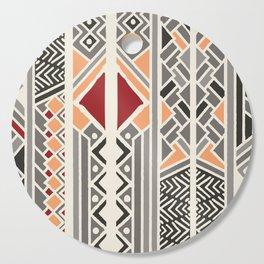 Tribal ethnic geometric pattern 034 Cutting Board