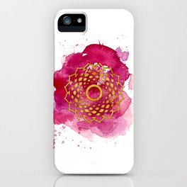 Crown Chakra Watercolour Painting iPhone Case