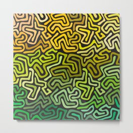 Green Worms Metal Print