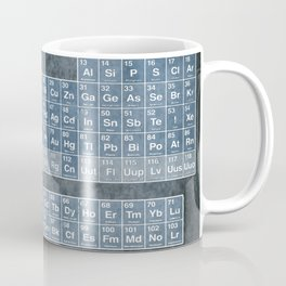 Tableau Periodiques Periodic Table Of The Elements Vintage Chart Blue Coffee Mug
