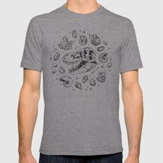Geo-rex Vortex (black) Tri-Grey LARGE Mens Fitted Tee