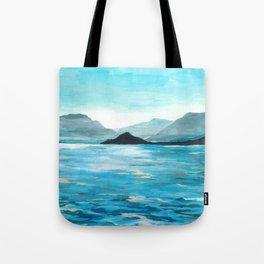 Lake Como, Seascape Original Painting Tote Bag