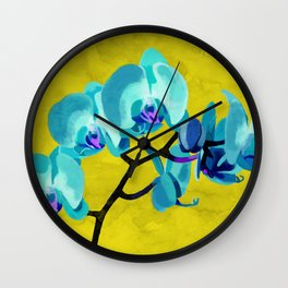 Orchid blue Wall Clock