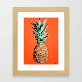 Pineapple pop art painting Framed Art Print