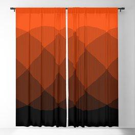 Orange to Black Ombre Signal Blackout Curtain