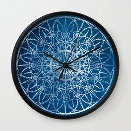 Fire Blossom - Blue Wall Clock