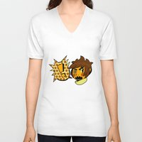 sticker V-neck T-shirts featuring Chip sticker by marvelousghost