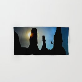 Rock Climbing Mountaineer Hand & Bath Towel