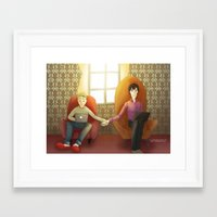 johnlock Framed Art Prints featuring Johnlock by il cielo capovolto