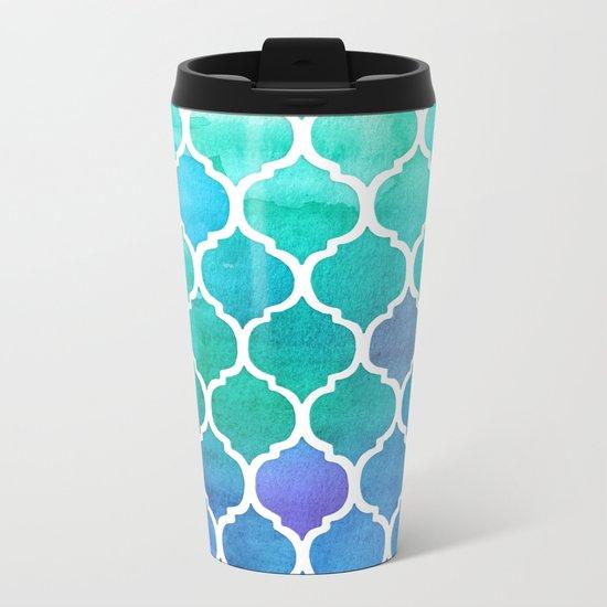 Emerald & Blue Marrakech Meander Metal Travel Mug