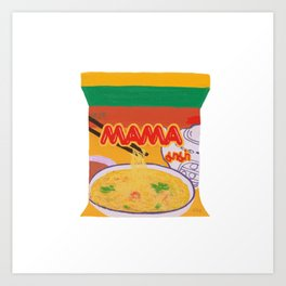 Mama Noodle Art Print