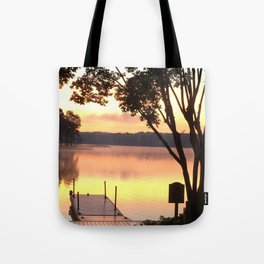 Dock at Sunrise Tote Bag