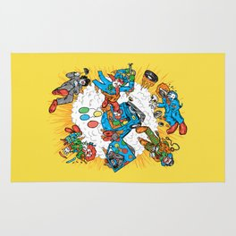 When Clown Cars Explode Rug