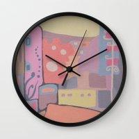 portugal Wall Clocks featuring OPORTO (PORTUGAL) by Valentina Paglia