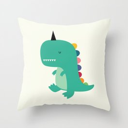 Dinocorn Throw Pillow