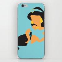 aladdin iPhone & iPod Skins featuring Jasmine - Aladdin by Adrian Mentus