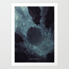 why do we fall ? Art Print