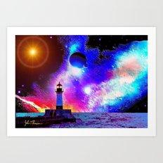 Lighthouse to the stars Art Print