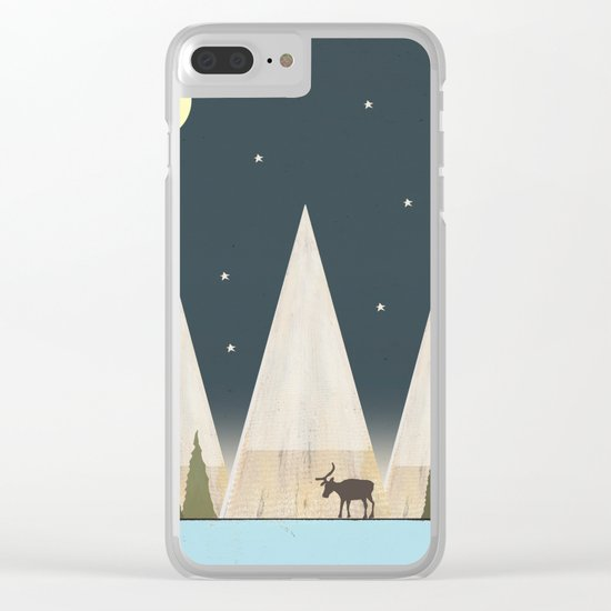 Solitude At Night Clear iPhone Case