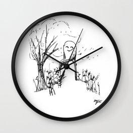 A Windy Day Wall Clock