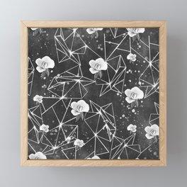 Monochrome geometric pattern Framed Mini Art Print