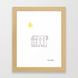 Sunny House Framed Art Print