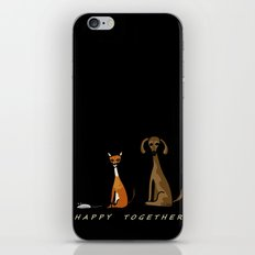 Happy Together - Black iPhone & iPod Skin