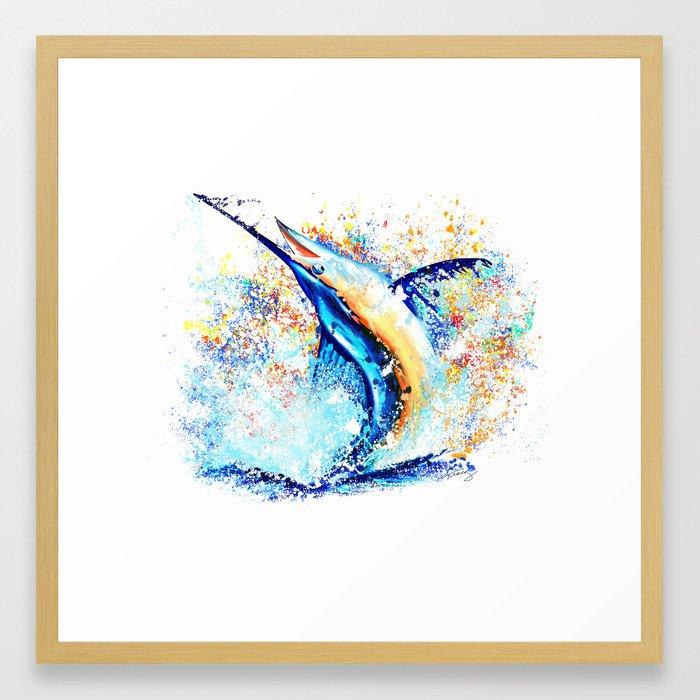 Marlin Impression Framed Art Print