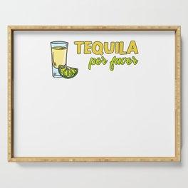 Lemon Tequila Alcohol Cinco De Mayo Orange Serving Tray