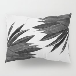 Agave Cactus Black & White Pillow Sham