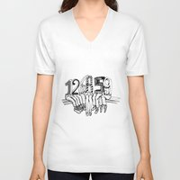 numbers V-neck T-shirts featuring Numbers by Ilya kutoboy