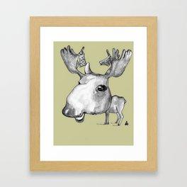 NORDIC ANIMAL  - MURIAL THE MOOSE  / ORIGINAL DANISH DESIGN bykazandholly  Framed Art Print