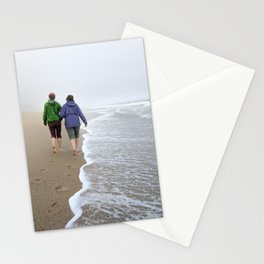 Long Walks on the Beach Stationery Cards