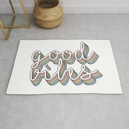 good vibes pastel Rug
