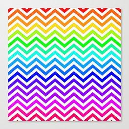 Raibow pattern lines Canvas Print