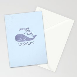 Whalecome To The Ocean! Stationery Cards