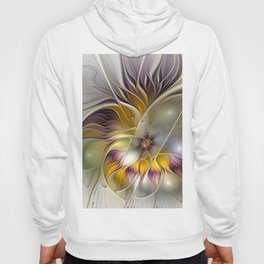 Abstract Fantasy Flower Fractal Art Hoody