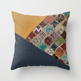 (N11) Vintage Traditional Moroccan Artwork Mixed with Modern Colored Touch. Throw Pillow