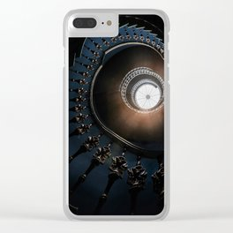 Mysterious spiral staircase Clear iPhone Case