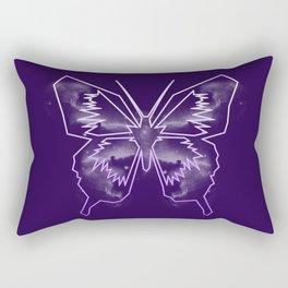 Galactica Purple Butterfly Rectangular Pillow