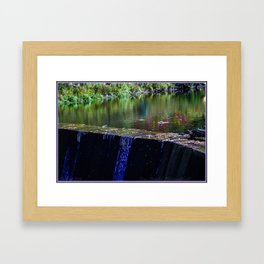 Water, Damn  Autumn Framed Art Print