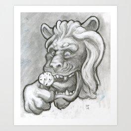 Ice Cream Lion Art Print