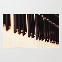 piano Area & Throw Rugs featuring piano by noirblanc777